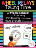 Wheel Relays Math - Set #5 Telling Time Analog Clock
