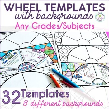 Wheel Templates with Backgrounds - Editable