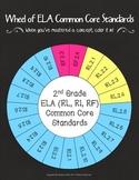 Wheel of 2nd Grade Common Core ELA Standards