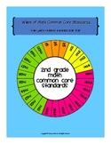 Wheel of 2nd Grade Math Common Core Standards