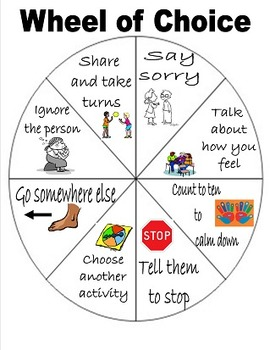 Wheel of Choice in English and Spanish