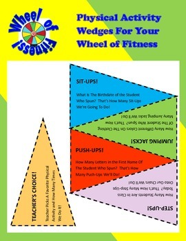 Wheel of Fitness! Fun Brain Break Activities