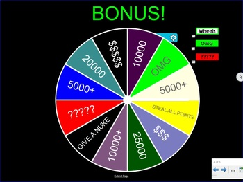 Wheel of Fortune Competitive Game & Activity