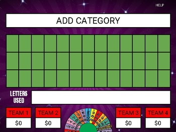 wheel of fortune (google slides game template)roombop | tpt, Powerpoint templates
