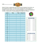 Wheel of Fortune Probability Activity