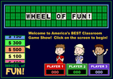 """'Wheel of Fortune""-Style Classroom Game!"