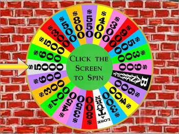 Wheel of Fortune Wheel Powerpoint