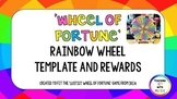 *EDITABLE* Wheel of Fortune Rainbow Template and Rewards
