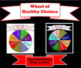 Wheel of Healthy Choices Drug Awareness Red Ribbon Week Game