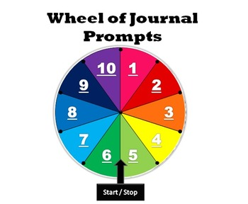 Journal Prompts, Quick Writes & Discussion Topics (Game Format)