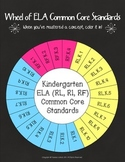 Wheel of Kindergarten Grade Common Core ELA Standards
