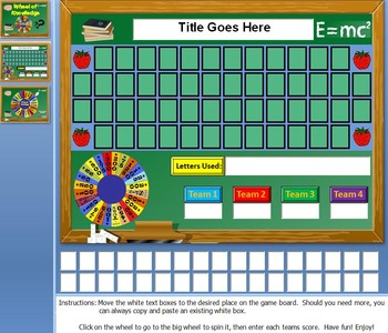 Money Wheel: Just like Wheel of Fortune PPT Game: (Microsoft Windows Only)