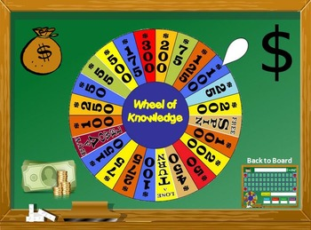 wheel: just like wheel of fortune ppt game: (microsoft windows only), Powerpoint templates