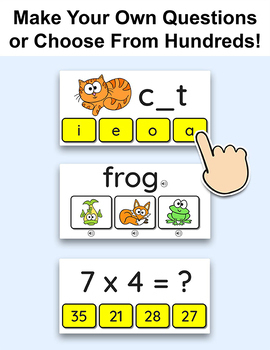 Quiz Review Game for Any Subject - End of the Year Activities for SmartBoards