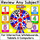 Quiz Review Game for Any Subject - Winter & Christmas Activities SMARTboard Game