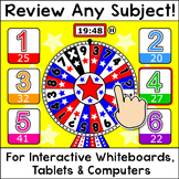 Quiz Review Game for Any Subject - Digital Winter Activities - 10 Fun Themes