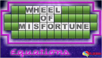 Wheel of Misfortune - Solving Linear Equations