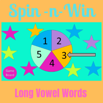 Spin-n-Win Name that Long Vowel Word Interactive White Board Game