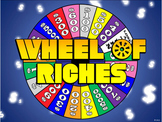 Wheel of Riches PowerPoint Template - Plays Just Like Wheel of Fortune
