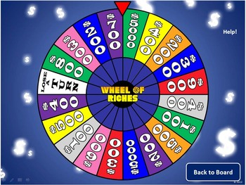of riches powerpoint template  plays just like wheel of fortune, Powerpoint