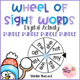 BUNDLE Wheel of Sight Words Interactive Digital Game FRY first 200