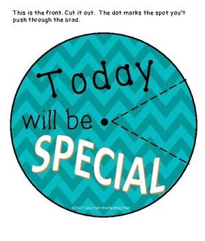 Wheel of Specials EDITABLE ~ Specials Class Organization Wheel