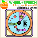 Wheel of Speech Articulation & Language Skills Craft
