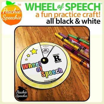 Wheel of Speech Articulation & Language Skills Craft