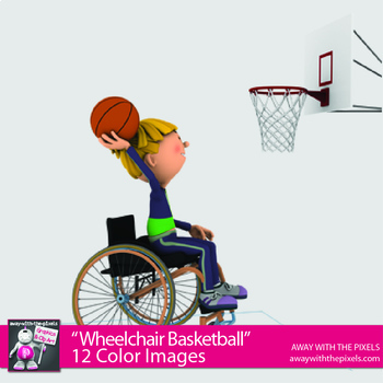 Wheelchair Basketball - Adapted PE Clipart - Fitness PE - Digital Product OK
