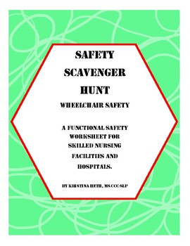 Wheelchair Safety Scavenger Hunt All Ages Worksheets