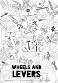 Wheels and Levers Colouring Title Page