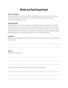 Grade 4 - Wheels and Levers Full Alberta Unit Workbook