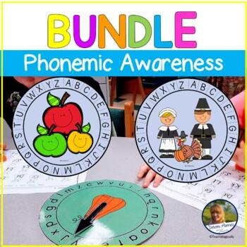 Beginning Sounds Phonemic Awareness Game Bundle Fall