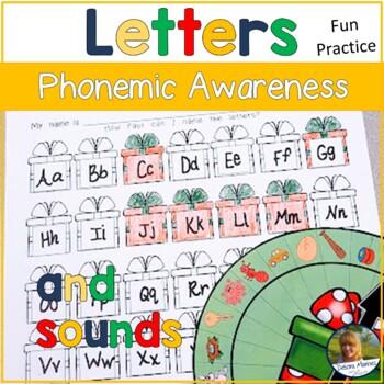 Beginning Sounds Phonemic Awareness Game Gift Themed