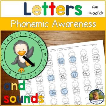 Penguin Kindergarten Letter Sound Game