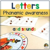 Letter Sounds and Letter Recognition Phonemic Awareness Game Turkey Themed