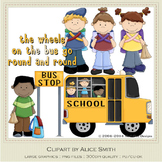 Wheels on the Bus Clip Art Graphics by Alice Smith