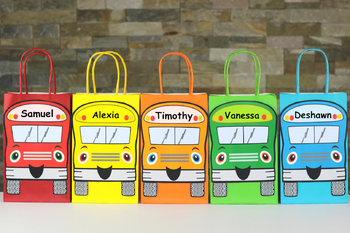 Wheels on the Bus Goodie Bags/Banner