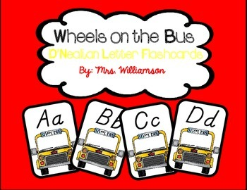 Wheels on the Bus Letter Flashcards