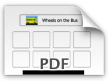 Wheels on the Bus PECS Board