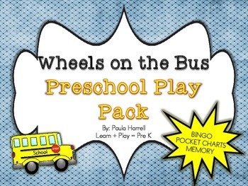Wheels on the Bus Preschool Play Pack