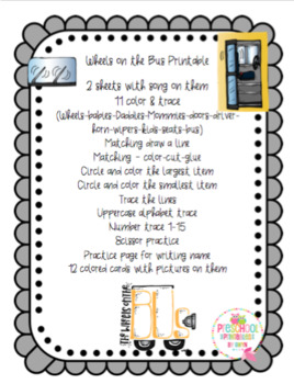 Wheels on the Bus Printable