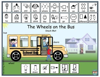 Wheels on the Bus Snack Mats