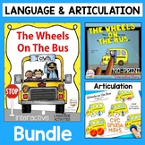Wheels on the Bus Speech and Language Therapy Activities Bundle