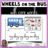 Wheels on the Bus with Core Words AAC Activity distance le
