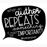 When An Author Repeats Something...Poster