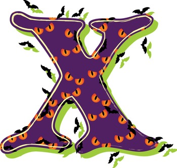"When Bats Attack! Alphabet - 91 - 300 DPI - PDF & PNGs - 3.75"" High - Spooky!"
