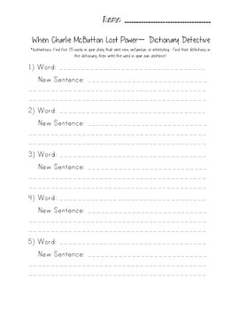 When Charlie McButton Lost Power - Reading Street 3.1.1 Packet (FREEBIE!)