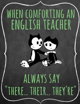 When Comforting an English Teacher Poster