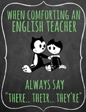 When Comforting an English Teacher Poster